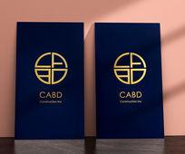 Luxury Matte Gold Foil Business Card